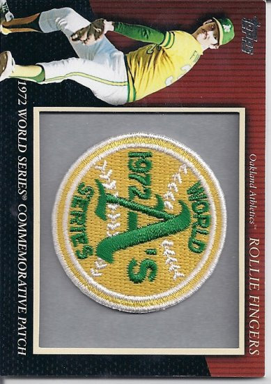 2010 Topps Series 2 Rollie Fingers Retail Boxtopper Commemorative Patch