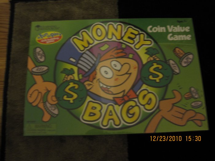 NEW! Learning Resources Money Bags A Coin Value Game