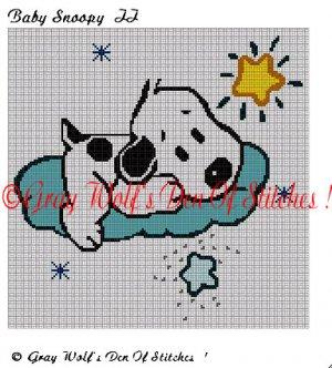 Baby Snoopy II **Crochet , Knit Afghan Pattern**