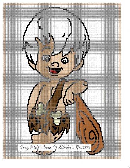 Bam-Bam Rubble **Crochet , Knit Afghan Pattern**