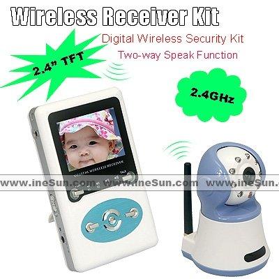 2.4G CCTV Wireless Baby Monitor System Builtin Intercom