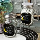 Set 6x Sayings collection 'I Love you to the moon and back' glass mason jar