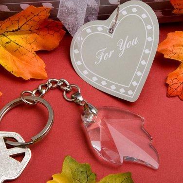 Choice Crystal Leaf Key Chain Favors