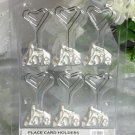 Pack of 6 Love Place Card Holders with Diamante