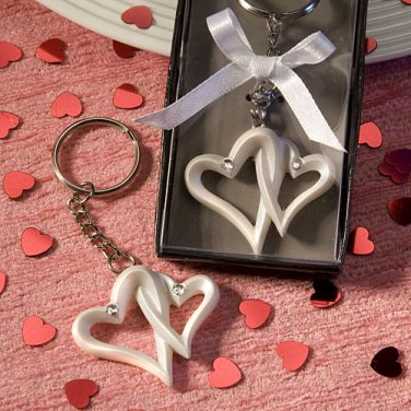 Interlocking Heart Design Favor Saver Key Chains