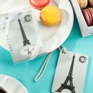 Paris Eiffel Tower luggage tag favors
