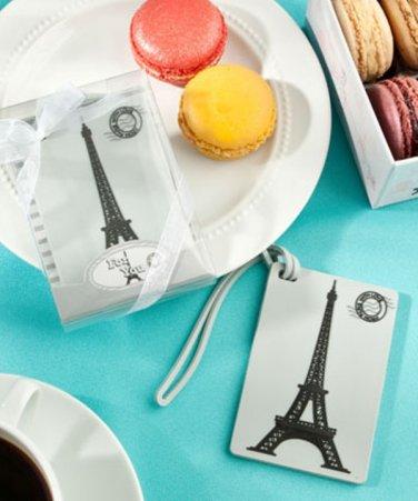 Paris Eiffel Tower luggage tag favors