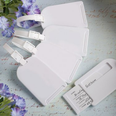 6x Perfectly Plain Collection Luggage Tag Favors