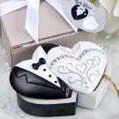 Bride and Groom design curio trinket box favors