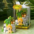 6x Jungle Critters Collection Candle Favors