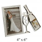 "Juliana S/P Photo Frame 3D Bottle & Flute 4"" x 6"" - 60"