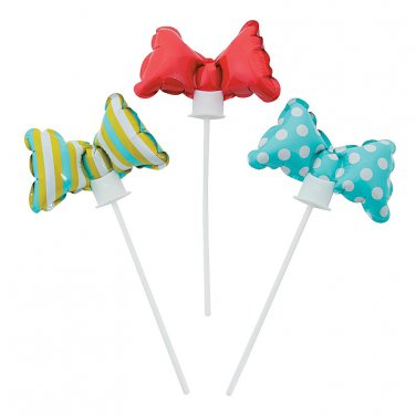 12 x Lil Man Bow Tie Self-Inflating Balloons