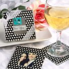 Photo coaster sets with polka dots!