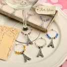 Eiffel Tower Wine Charm Sets