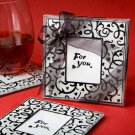 Hearts and Flourishes Collection coaster set