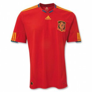 SPAIN Home Soccer Jersey - S
