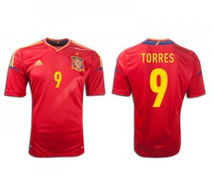 TORRES #9 SPAIN Home Soccer Jersey 2012 - M