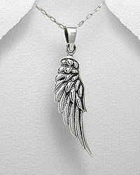 925 Silver Angel Wing Pendant
