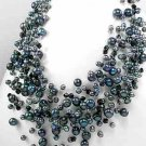 "Black Tahiti Freshwater Pearl 18"" Necklace"