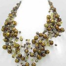 "Bronze Freshwater Pearl 19"" Necklace"