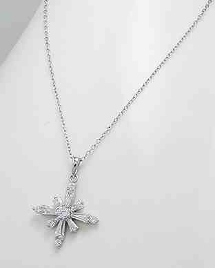925 Silver Cubic Zirconia Pendant Necklace