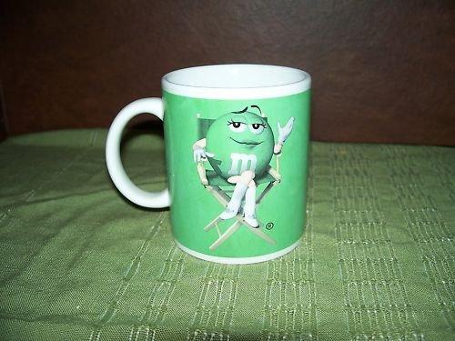 GREEN M&M's MARS CHOCOLATE CANDY COFFEE MUG CUP NEW
