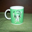 GREEN M&M's MARS CHOCOLATE CANDY COFFEE MUG CUP NEW