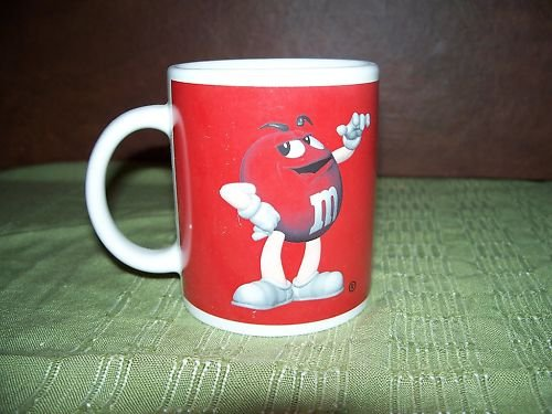 RED M & M Coffee Mug Great NEW Cup Cups Glass