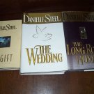 Lot 3 Danielle Steel HC Books The Gift,The Wedding,....