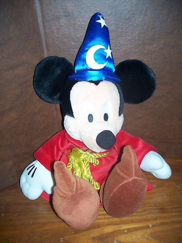 "Fantasia Sorcerer Mickey Mouse Plush Stuffed Doll 20"""