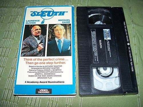 Sleuth VHS Laurence Olivier Michael Caine