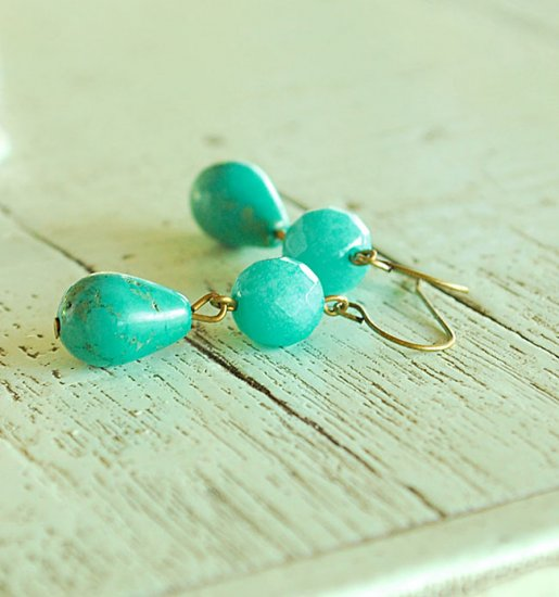 Let's go green earrings