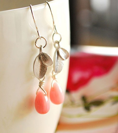Autumn leaves drop earrings