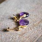 Precious purple fruit earrings