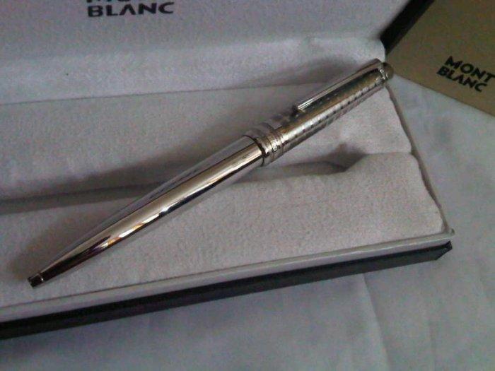 Montblanc Meisterstuck Solitaire Stainless Steel Ballpoint Pen Twist