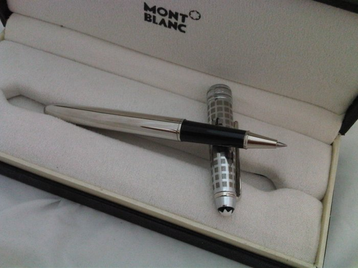 Mont blanc Meisterstuck Solitaire Stainless Steel Rollerball Pen
