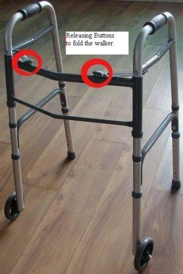 2SHC11-WLK002 - Walker Frame/  Multifunctional Foldable Walker with rollers and adjustable height