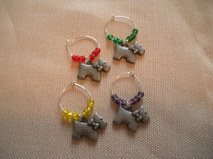 Pewter Dog Wine Charms