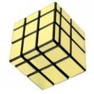 Golden Block Rubik Type Magic Cube Puzzle Toy