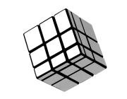 Silver Block Rubik Type Magic Mirror Cube Puzzle Toy