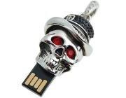 4G USB 2.0 Flash Memory Drive - Skull Crystal Pendant