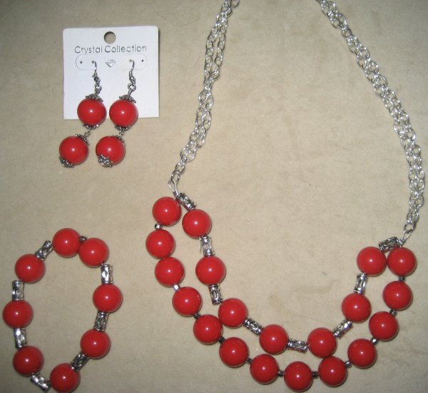 Statement Necklace Set with Bracelet & earrings