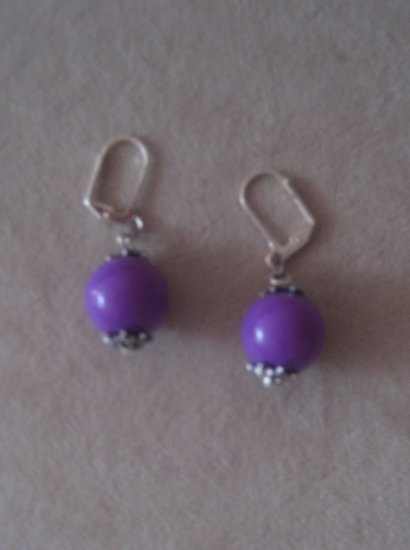 Custom Made Purple Earrings