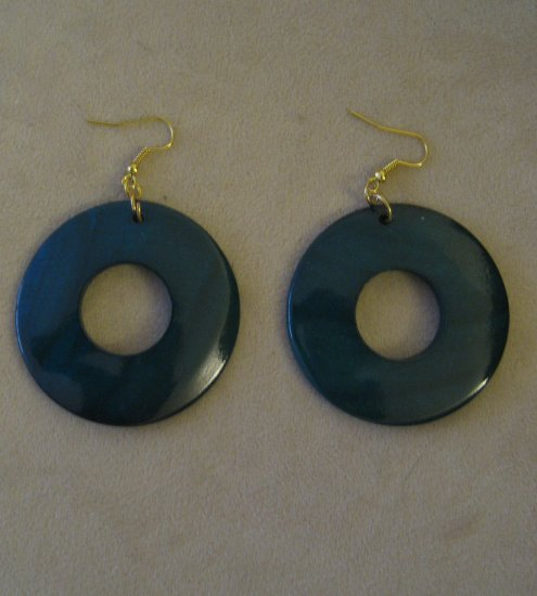 Vintage Dark Blue Earrings