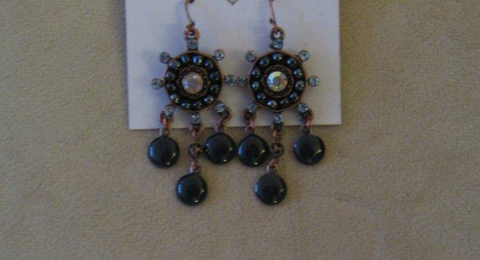 Vintage Stoned Beaded Earrings