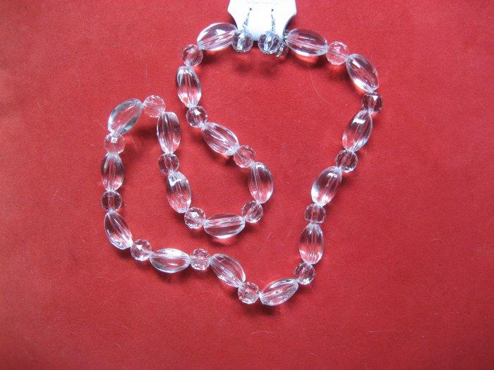 Clear Lucite Necklace Set