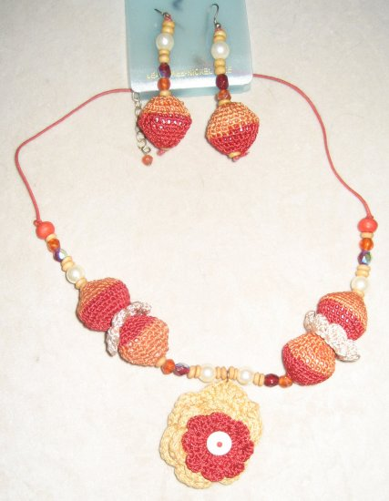 Crochet Necklace Set