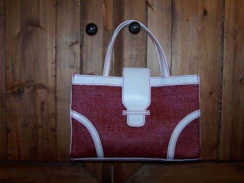 Victoria's Secret  Gently Used Red Straw Bag Handbag