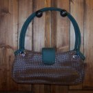 Victoria's Secret Brown Faux Leather with Green Handles