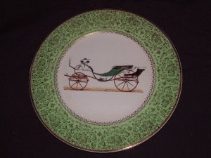 """Old Fsahioned Buggies"" Salem China Decorative Plate"
